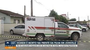 Homem é morto na frente da filha em Joinville - Homem é morto na frente da filha em Joinville