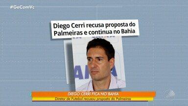 Diretor do Bahia recusa proposta do Palmeiras e continua à frente do time tricolor em 2020 - Em nota, ele agradeceu ao Palmeiras pelo convite. Também afirmou se sentir orgulhoso na atuação social do Bahia.