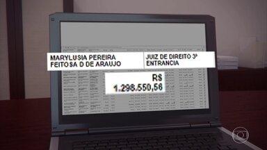 Magistrados recebem até R$ 1 milhão por férias acumuladas no Tribunal de Justiça de PE - Maior valor foi R$ 1,2 milhão.