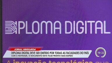Estudantes da região esperam facilidades para conseguir emprego com diploma digital - Ministério da Educação anunciou que as faculdades vão poder emitir o diploma digital para substituir o de papel.