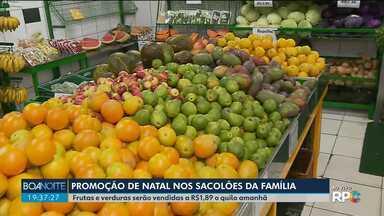 Sacolões da Família vão vender frutas, verduras e legumes a R$1,98 amanhã (12) - Não é necessário cadastro para comprar.