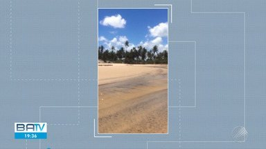 Manchas de óleo são encontradas por moradores na praia de Subaúma, no Litoral Norte - Fragmentos da substância foram encontrados no rio Crumaí e no manguezal.
