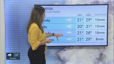 Confira a previsão do tempo para esta quinta-feira (12) na região de Ribeirão Preto - Temperaturas não ultrapassam 27º C e há risco de chuva a qualquer horário.