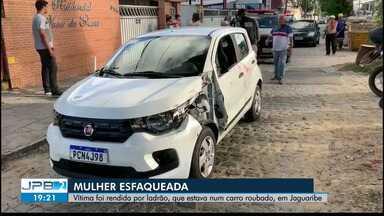 JPB2JP: Mulher foi esfaqueada durante tentativa de assalto em João Pessoa - Vítima foi rendida por ladrão, que estava num carro roubado, em Jaguaribe.