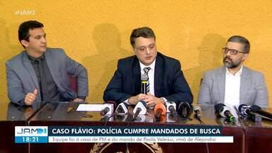 PC cumpre mandados de busca e apreensão contra suspeitos de envolvimento no Caso Flávio - Flávio Rodrigues foi morto em setembro deste ano; cinco pessoas foram indiciadas.