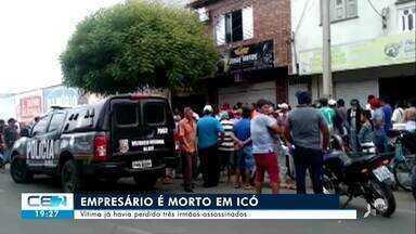 Empresário foi assassinado em Icó - Confira mais notícias em g1.globo.com/ce