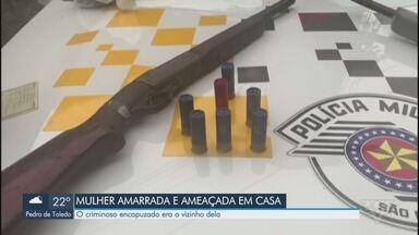 Moradora de Santos é amarrada e ameaçada por mais de uma hora dentro de casa - Criminosa ameaçou voltar e matar a família se vítima não arrumasse R$ 12 mil.