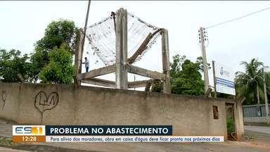 Obra em caixa d'água no bairro Columbia, em Colatina, fica pronta em breve - Segundo a prefeitura, obra vai ficar pronta nos próximos dias.