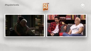 Atores assistem a VT de momentos entre Marcos e Alberto na trama - Confita