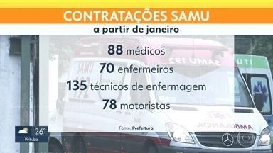 Um total de 371 profissionais vão ser contratados para o Samu da capital - A promessa é da prefeitura da capital, que anunciou uma nova etapa da reestruturação do Samu. As mudanças já começaram, mas provocaram muitas reclamações dos trabalhadores.