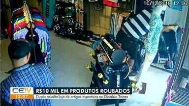 Dupla assalta loja de artigos esportivos - Saiba mais no g1.com.br/ce