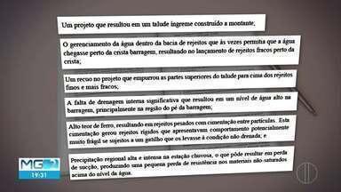 Vale apresenta relatório sobre rompimento de Brumadinho - Estrutura se desfez por liquefação, aponta estuda.