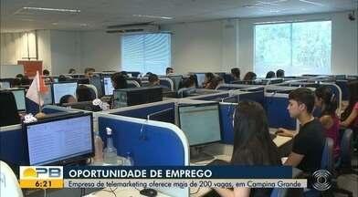 Operadora de telemarketing abre seleção para 220 vagas de emprego, em Campina Grande - Empresa busca contratar até 700 trabalhadores até fevereiro de 2020.