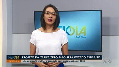 Projeto de lei 'Tarifa Zero', em Ponta Grossa, deve ser votado em 2020 - Ideia é discutir melhor a proposta com a população no ano que vem.