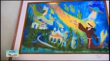 Conheça a história do artista Petrônio Bax natural de Carmópolis de Minas - Obras do artista são uma mistura de natureza, fé e espiritualidade.