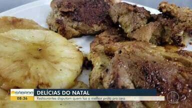 Restaurantes de Maricá, RJ, disputam quem faz o melhor prato para ceia de natal - Chefes disputam com seriedade e colocam a mão na massa para garantir título de vencedor.