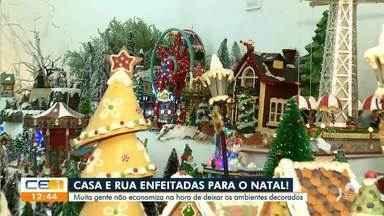 Moradores não economizam para dcorar a casa para o Natal - Confira mais notícias em g1.globo.com/ce