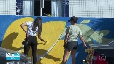 Voluntários pintam casas e praças de 12 comunidades do Recife - Ação é exemplo de união entre moradores e poder público.