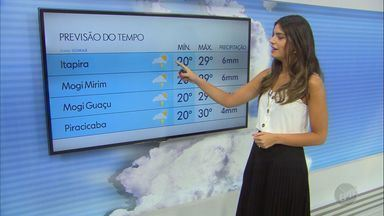Confira a previsão do tempo para a região de Campinas neste domingo (15) - Tempo instável mantém chances de chuva e temperaturas elevadas nas cidades. Campinas registra máxima de 30º C.