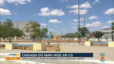 Expectativa para a chegada de Papai Noel em Campina Grande - Evento será realizado no Parque da Liberdade e a programação especial começa às 14h.
