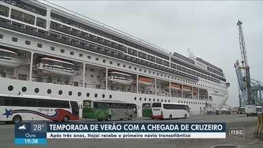 Primeiro cruzeiro abre temporada de transatlânticos em Itajaí - Primeiro cruzeiro abre temporada de transatlânticos em Itajaí