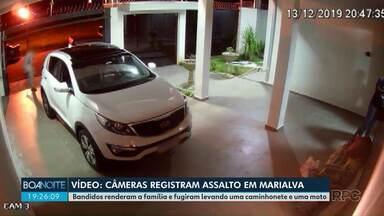 Assaltantes rendem família e roubam carro - O veículo foi recuperado em Guaíra