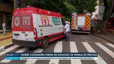 Mulher ferida em explosão de panela morre no hospital - A cozinheira foi atingida pela tampa
