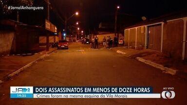Dois assassinatos são registrados na mesma esquina na Vila Morais, em Goiânia - Crimes aconteceram com menos de 12 horas de diferença. Ainda não há informação se há ligação entre os casos.