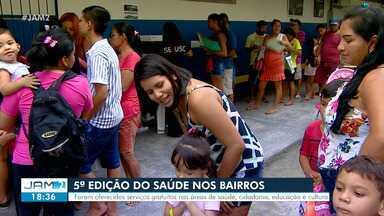 Saúde nos Bairros leva serviços gratuitos à população em Manaus - Foi a última ação de 2019
