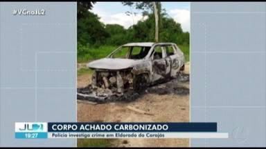 Corpo carbonizado é encontrado dentro de carro em Eldorado do Carajás, no PA - Corpo carbonizado é encontrado dentro de carro em Eldorado do Carajás, no PA