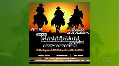 Confira a agenda de eventos do Mirante Rural - No dia 22 de dezembro haverá cavalgada dos amigos no Povoado Aldos dos Bidas.