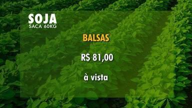 Confira a cotação dos grãos e do boi gordo no Maranhão - No caso dos grãos, a saca de soja com 60 kg está sendo negociada a R$ 81.