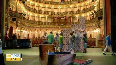 Acompanhe os bastidores de um musical no Teatro Amazonas - Espetáculo fala sobre o Natal.