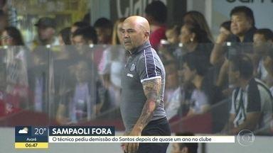 Técnico Jorge Sampaoli deixa o Santos - Nesta terça-feira (10), o clube divulgou nas redes sociais o pedido de demissão feito pelo argentino.