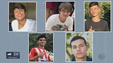 Morre 5ª vítima de acidente de carro com sete jovens em Lambari, MG - Morre 5ª vítima de acidente de carro com sete jovens em Lambari, MG