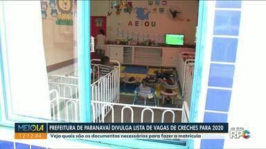 Pais já podem consultar crianças com vagas em CMEIs de Paranavaí - Lista foi divulgada pela Prefeitura nesta segunda-feira (16).