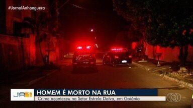 Homem é morto no meio da rua no Setor Estrela Dalva, em Goiânia - Vítima tinha bebido e foi morto a facadas.