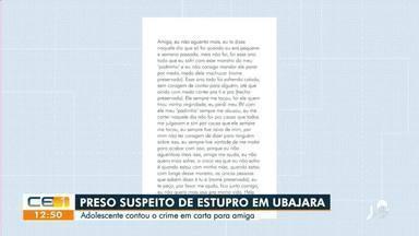 Preso suspeito de estuprar adolescente em Ubajara - Saiba mais no g1.com.br/ce