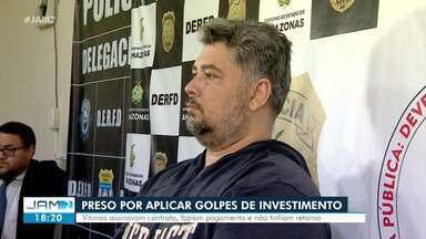 Golpes de esquema com criptomoedas chega a R$ 5 milhões; um suspeito foi preso - Segundo polícia, no esquema, dupla chegou a fazer mais de 100 vítimas em Manaus.