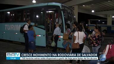 Faltando uma semana para o natal, movimento na rodoviária de Salvador já começa a aumentar - Confira.