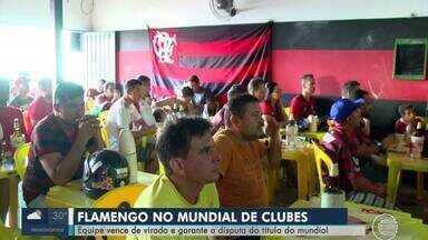 Torcida de Teresina vibra com vitória do Flamengo para disputar título mundial - Torcida de Teresina vibra com vitória do Flamengo para disputar título mundial