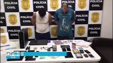 Polícia prende golpistas que deram um golpe de R$ 500 mil em bancos privados - Segundo os investigadores de Planaltina, os dois estelionatários fazem parte de uma organização criminosa que falsificava documentos, procurações e cartões bancários.