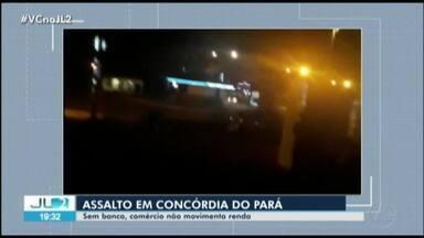 Comércio de Concórdia do PA sente reflexos após assalto à única agência bancária da cidade - Assaltantes explodiram a unidade.