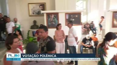 Câmara de Campos, RJ, tenta aprovar cinco dos sete projetos enviados pela prefeitura - Projetos mexem com direitos dos servidores, que ficam preocupados.