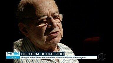 Amigos e familiares prestam últimas homenagens a Elias Siufi - Empresário e jornalista morreu após ficar três meses internado.
