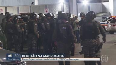 Nove detentos fogem durante rebelião no CERESP de Conrtagem - A rebelião foi na madrugada de sexta-feira (20).
