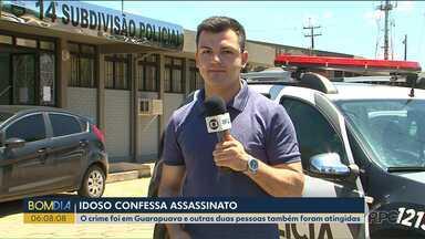 Idoso confessa ter matado um homem em no Distrito do Guará, em Guarapuava - Uma mulher e uma criança também foram atingidas pelos tiros.
