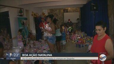 Ação solidária distribui brinquedos para crianças carentes em Varginha (MG) - Ação solidária distribui brinquedos para crianças carentes em Varginha (MG)