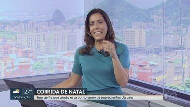 RJ1 - Íntegra 24/12/2019 - O telejornal, apresentado por Mariana Gross, exibe as principais notícias do Rio, com prestação de serviço e previsão do tempo.