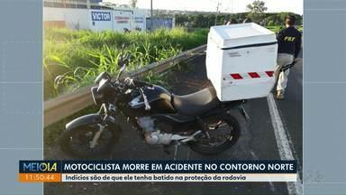 Motociclista morre em acidente no Contorno Norte de Maringá - Indícios são de que ele tenha batido na proteção da rodovia.